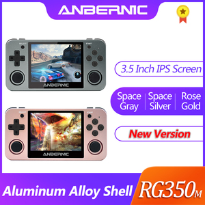 NEW ANBERNIC Retro game RG350 Video games Upgrade game console ps1 game 64bit opendingux 3.5 inch 2500+ games RG350m Child gift(China)