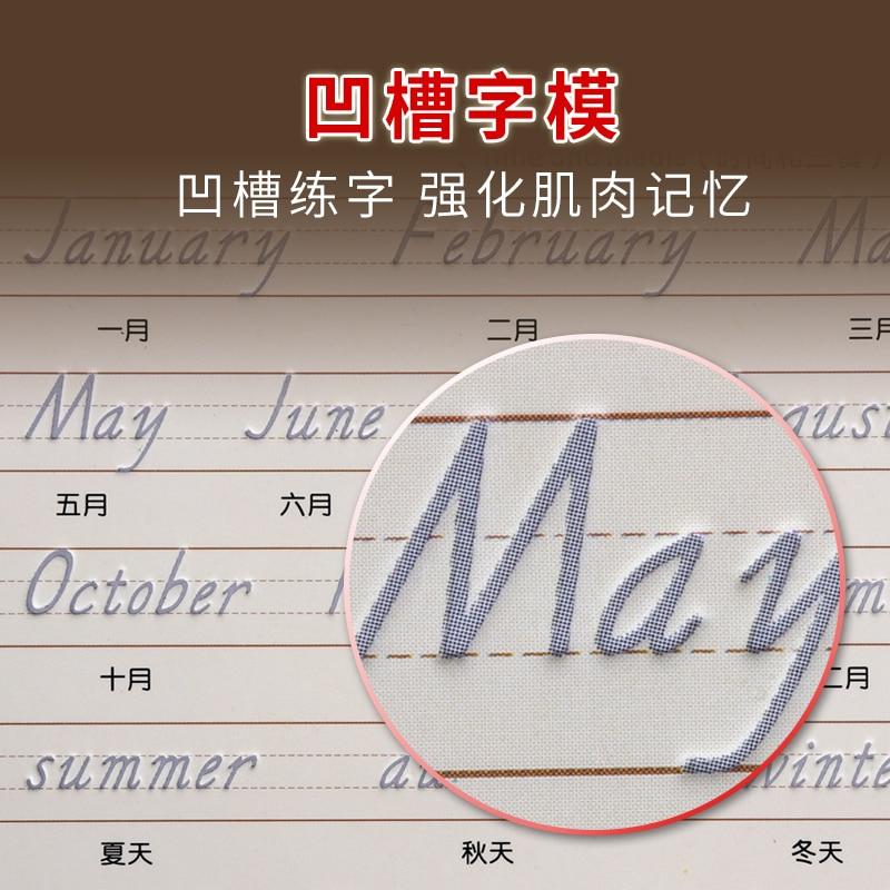 DiscountEnglish Practice-Book Art-Supplies Beginner Calligraphy-Copybook Reuse Handwriting Adultt╚