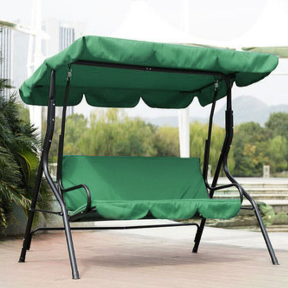 Waterproof Courtyard Garden Swing Hammock 3-Seat Cover Outdoor Garden Courtyard Protection Swing Seat Cover Accessories 3 Color