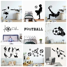 FC Wall Sticker Football Soccer Decals for Kids Room Decoration Vinyl Stickers Poster