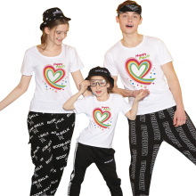 Fashion Family Matching Clothes New Family T Shirt Fitted Summer T-shirt Short Sleeve O-neck Family Look Matching Family Outfits недорого