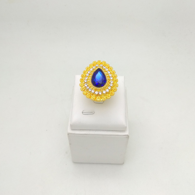 Kingdom Ma Wholesale African Fashion Bridal Accessories Nigerian Wedding Jewelry Brand Dubai Gold-Color Crystal Jewelry Sets
