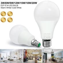E14 Led Bulb E27 Led 220V Led Light Lamp 3W 6W 9W 12W 15W 18W 20W SMD 2835 Warm Cold White Energy Saving Lights Home Lighting e27 3w 6500k 210 220lm 10 x smd 2538 led white light energy saving lamp bulb white ac 220v