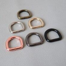 Metal Handbag Clasp Backpack Loop-Straps Leash D-Rings Sewing Hardware Dog-Collar 15mm