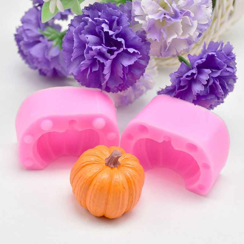 Halloween Pumpkin Shape Cake Mold Silicone Chocolate Fondant Mold Kitchen DIY Baking Tools accessories Moldes De Silicona
