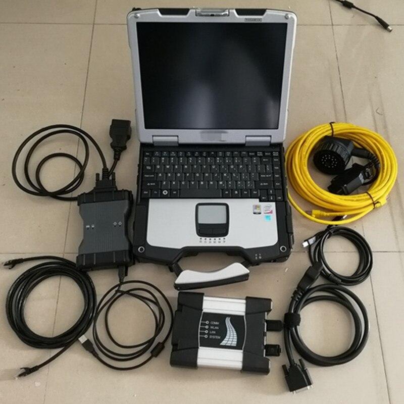 Mb star c6 y para BMW Icom next 2in1 vci doip herramienta de diagnóstico hdd 1tb con el software portátil cf30 listo para trabajar