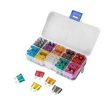 100 Uds Auto surtido hoja fusible tabletas Kit de reemplazo Zinc Material mediano tamaño 2A 3535a dropship