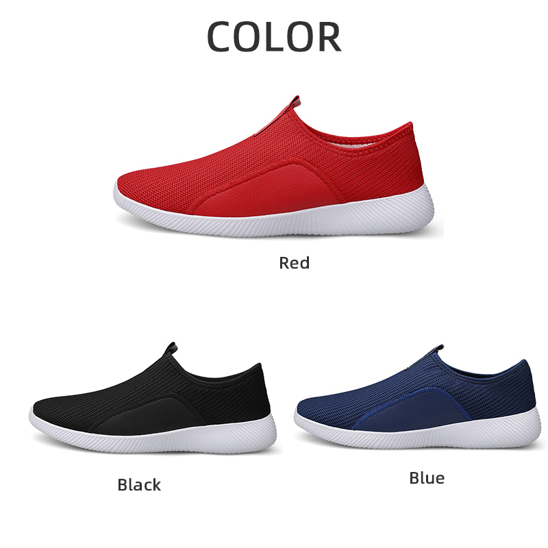 Men's Casual Shoes Mens Shoes Non Leather Casual Shoes Flyknit Man Sneakers Breathable Jogging Shoe Plus 46 Dropshipping
