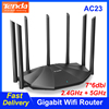 Tenda AC23 Gigabit Wifi Router 2.4G+5G AC2100 IPv6 100/1000Mbps Home Reapter 4X4 MU MIMO 7*6dbi More Than 100M Faster Stable