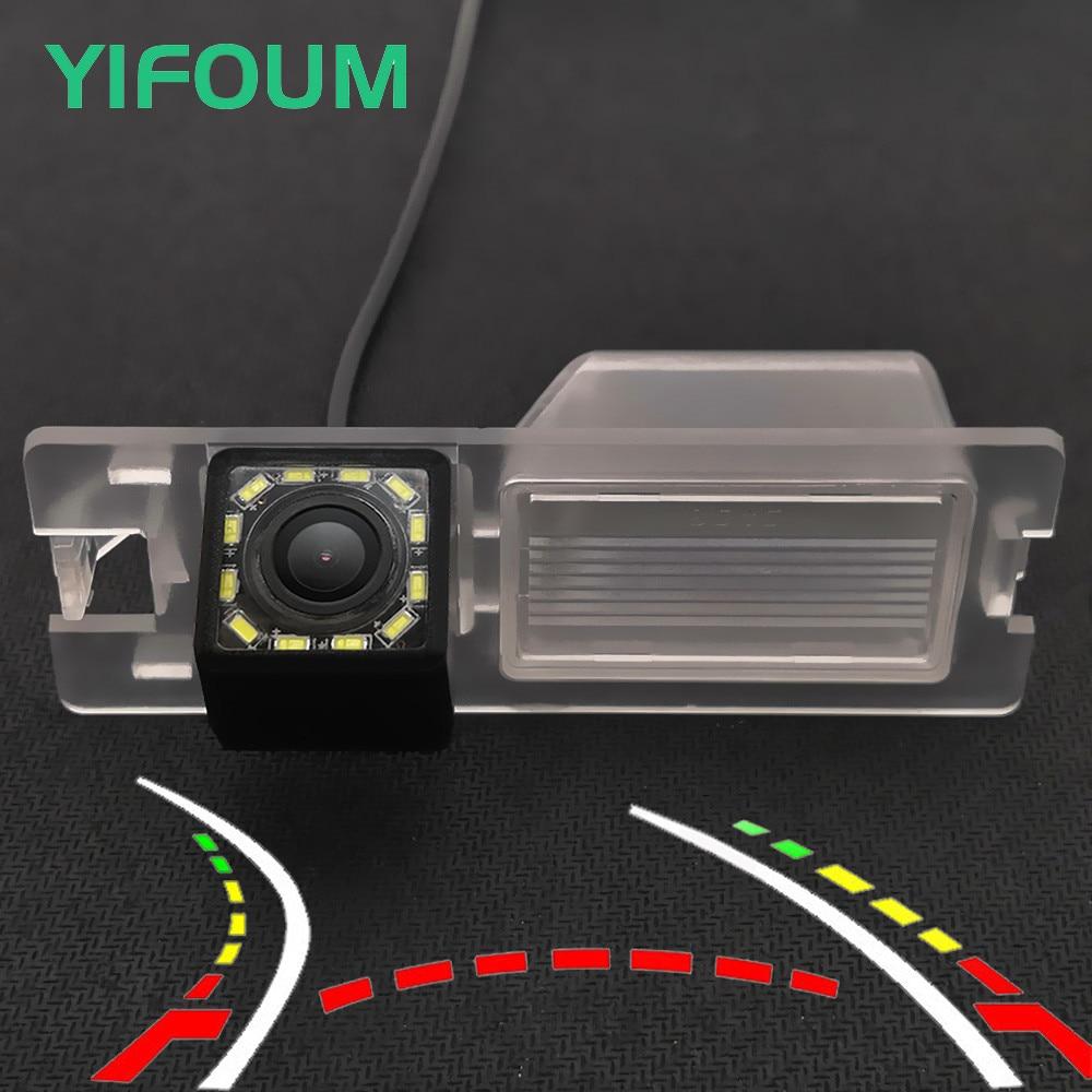 YIFOUM HD динамическая траектория треков Автомобильная камера заднего вида для Fiat Bravo Brava Ritmo Punto EVO Linea Grand Siena Croma 500L