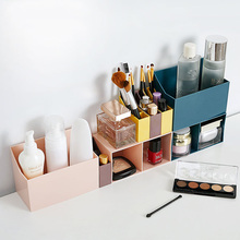 Plastic Makeup Organizer Jewelry Necklace Nail Earring Cosmetics Storage Container Drawer Home Desktop Storage Box plastic box 6 12 18pcs set scented rose flower petal bath body soap wedding party gift home party hotel wedding decoration