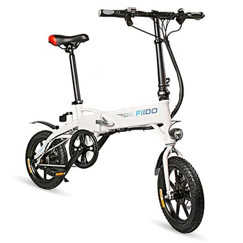 Fiido D1 Smart Electric Scooter Two Wheels Electric Bicycles With Brake/Suspension System 250W Mini Portable Adult Electric Bike