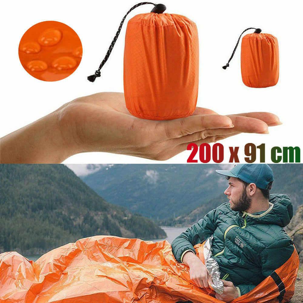 Sac de couchage d'urgence ultra-léger thermique étanche pour la survie en plein air Camping randonnée Camp engins de couchage voyage sac de couchage