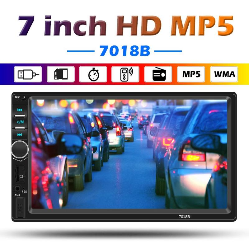 SWM 2 DIN Bluetooth Car Stereo MP5 Player 7 Inch Screen AUX USB TF FM Radio In Dash Head Unit Digital Media Receiver