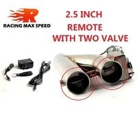 2.0 pouce 2.5 pouce 3 pouces en acier inoxydable double valve tuyau silencieux découpe dérivation échappement garniture bas Tube télécommande YTR