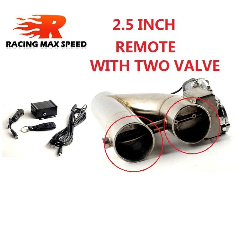 2,0 zoll 2,5 zoll 3 inch edelstahl verdoppelt ventil Rohr Schalldämpfer ausschnitt Bypass Auspuff Trim Unten Röhre Fernbedienung YTR