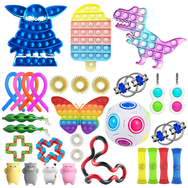 Toy-Set Fidget-Toys Relief-Antistress-Toys Sensory Stress Girl Children Adults