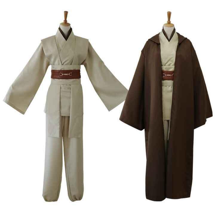 2019New Star Wars Jedi Knight Anakin Cosplay Kostum Kustom Darth Vader Jubah Dewasa Berkerudung Pria Jubah Gladiator Pakaian