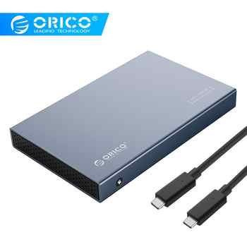 ORICO 2.5\'\' Type-C HDD Case Aluminum Alloy USB3.1 Gen2 Hard Drive Enclosure Support 7mm & 9.5mm With 50cm C to C Cable - Category 🛒 Computer & Office