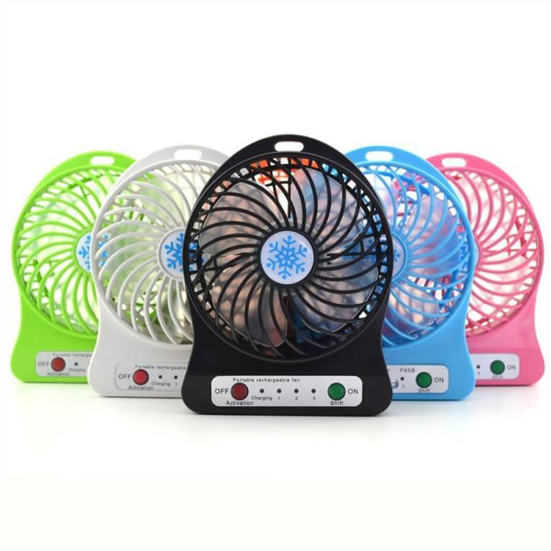 Portable Summer Electric Hand-held Mini Fan (without Battery) Adjustable Three Gears Usb Fan