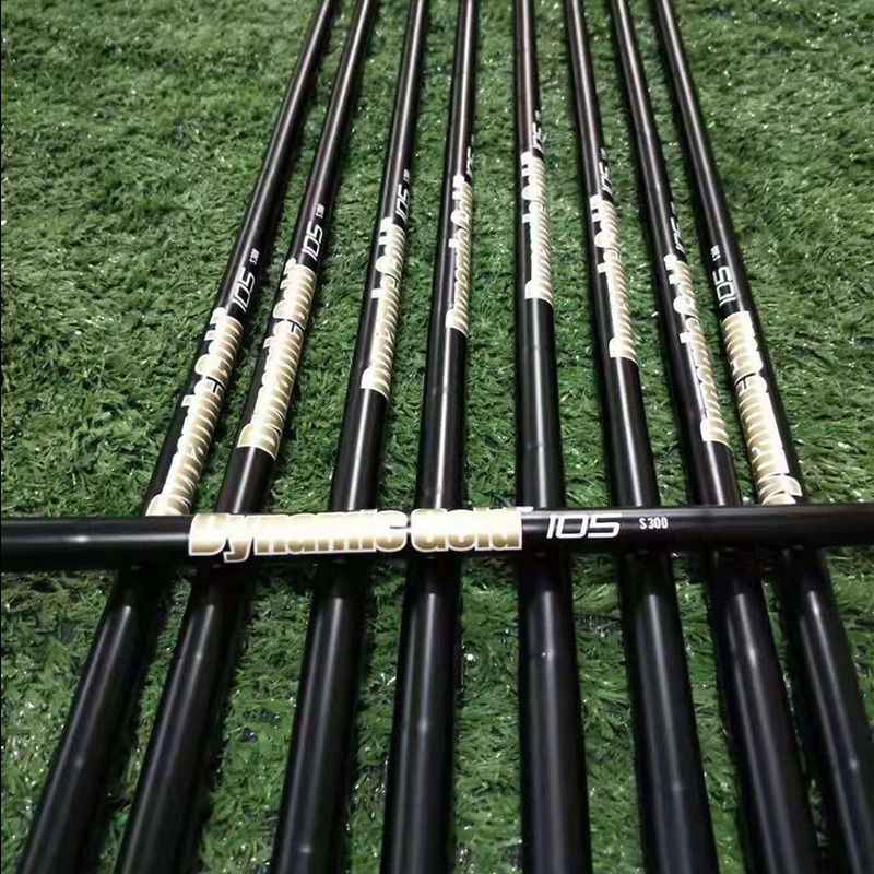10PCS TRUE TEMPER DYNAMIC GOLD TOUR ISSUE S400/S300 Steel Shaft Black Golf Steel Shaft For Golf Wedges And Irons Free Shipping