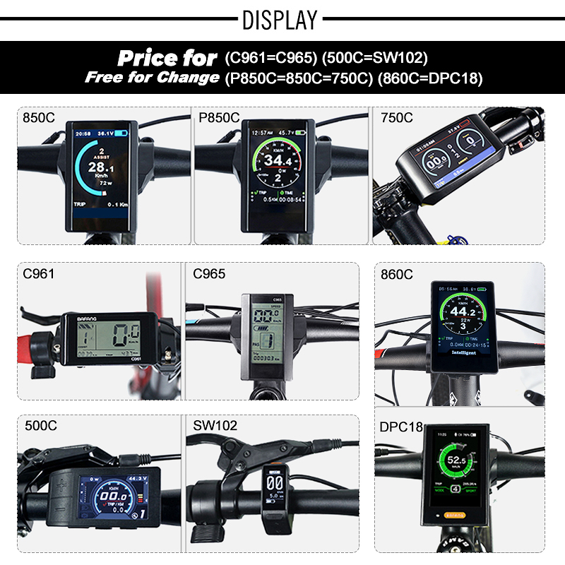 Top 36V 250W Bafang eBike Brushless Gear Rear Hub Motor Electric Bicycle Conversion Kit with 10Ah Wheel Drive Bike Battery Kit 2