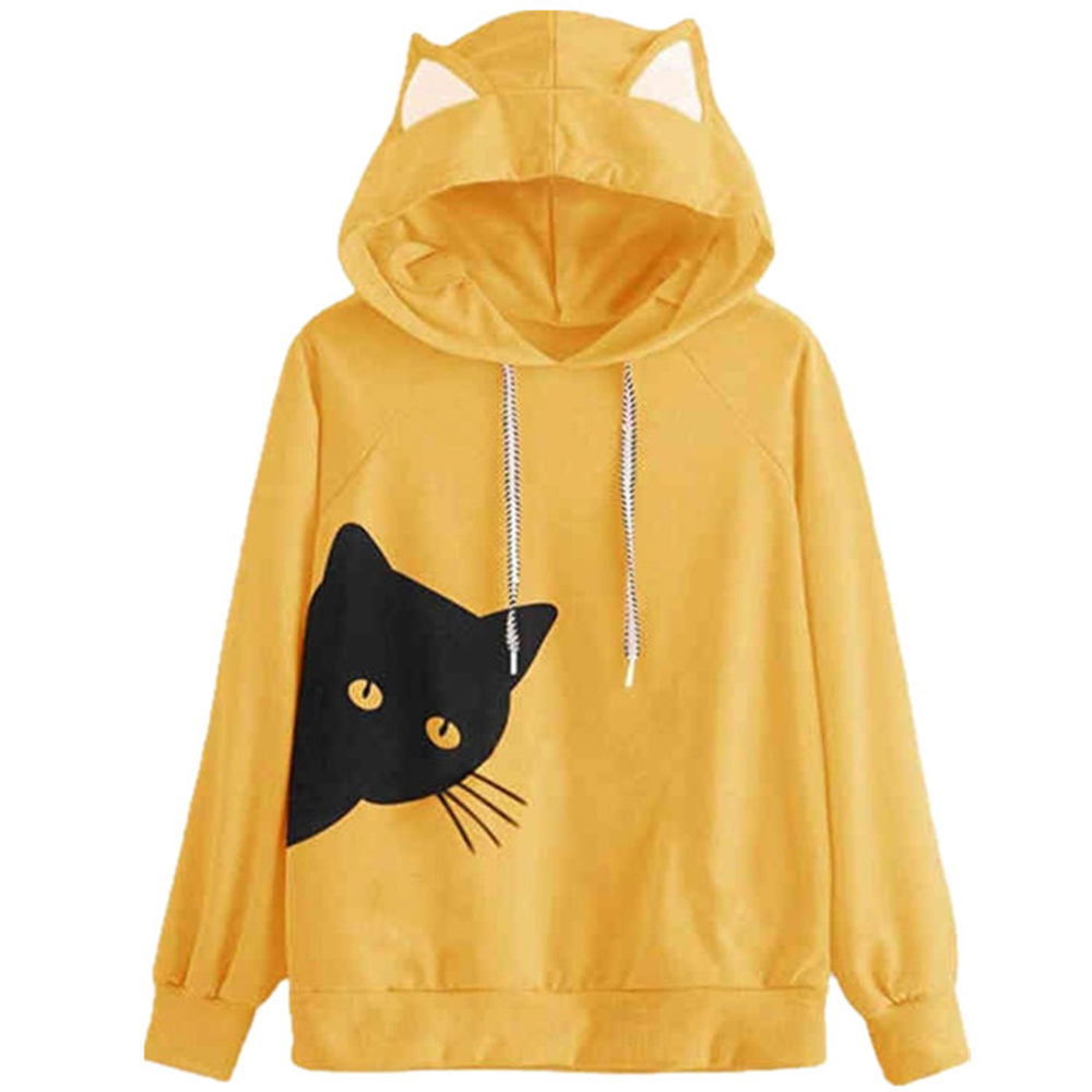 Tom Holland Hoodie Cat Ear Hoodie Casual Long Sleeve Sweater with HD Image Print engzhoushi Donna Felpa con Cappuccio