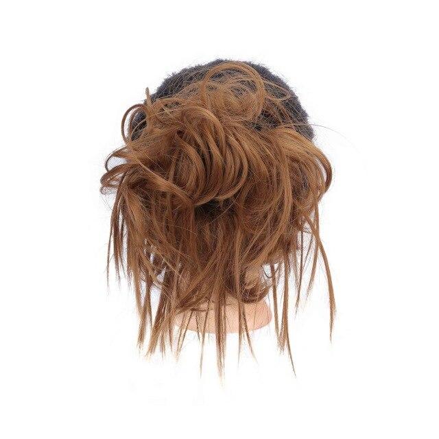 Lupu синтетические мягкие волосы кудрявый пучок женщин кудрявый Грязный серый коричневый цвет волос лента парик шиньон - Цвет: 27