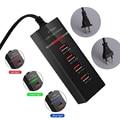 Мульти Порты USB для мобильных телефонов для использования во время поездок  Зарядное устройство для путешествий настенная розетка USB Мощнос...