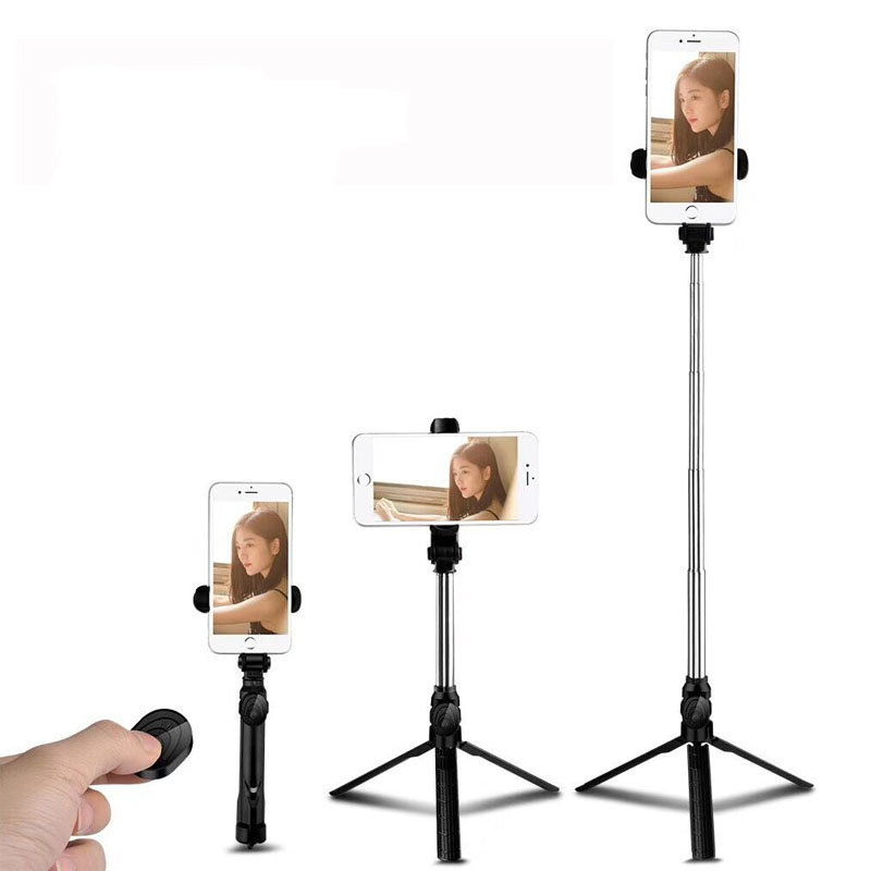 phone Tripod Selfie Stick Portable Wireless Bluetooth Control Camera Shutter Bluetooth Handheld for Xiaomi Universal Smartphone