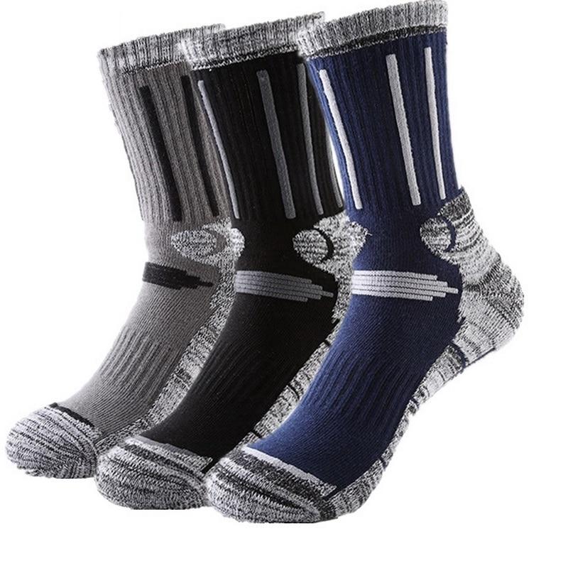 3 пар/лот, зимние толстые термоноски для рыбалки, катания на лыжах, мужские и женские носки для бега и велоспорта, спортивные термоноски, носк...
