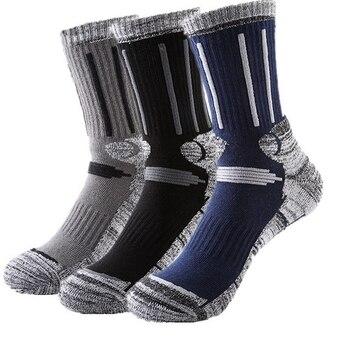 3Pairs/Lot Winter Thicker Thermal Fishing Skiing Socks Men Women Running Cycling Socks Sports Thermosocks Climbing Hiking Socks