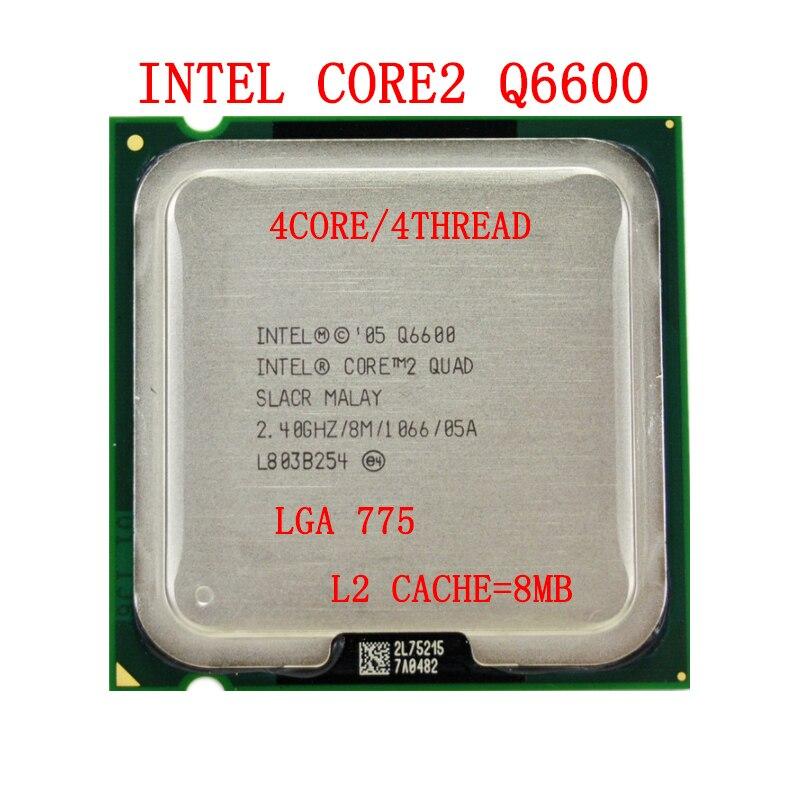 Intel Core 2 Quad Q6600 CPU SL9UM SLACR 2.4GHz 8MB 1066MHz Socket 775 Processor