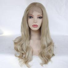 Freeshipping African Americans Black Women Long Body Wavy Cheap Synthetic Lace Front Wig