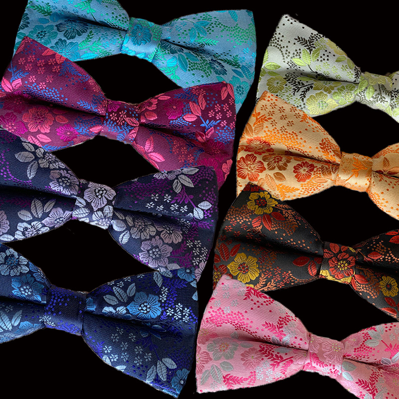 Newest Luxury Men's Bow Ties Adjustable Man Bowties Butterflies Floral Flower Tuxedo Party Wedding Butterfly Accessory Bows Gift