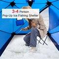 Водонепроницаемая палатка для подледной рыбалки на 3-4 человека  300D  зимняя палатка из ткани Оксфорд  навес для ночной подледной рыбалки  сум...