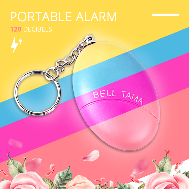 Fuers 1pcs 120DB Keychain Alarm Self Defense Women Security Personal Safety Scream Loud Self Defense Keychain Alarm Self Defence 2