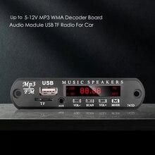 Kebidu 5V 12V MP3 Modulo Scheda di Decodifica USB AUX 3.5 MILLIMETRI WMA FM TF Radio Audio Con Telecomando altoparlante di musica Per Auto Commerci Allingrosso