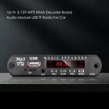 Kebidu 5v 12v mp3 módulo decodificador placa usb aux 3.5mm wma fm tf rádio de áudio com alto falante música remoto para vendas por atacado do carro