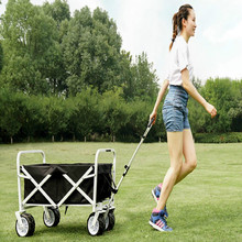 102*88*63cm Outdoor garden folded cart camping fold supermarket bar folding cart Garden planting handling cart
