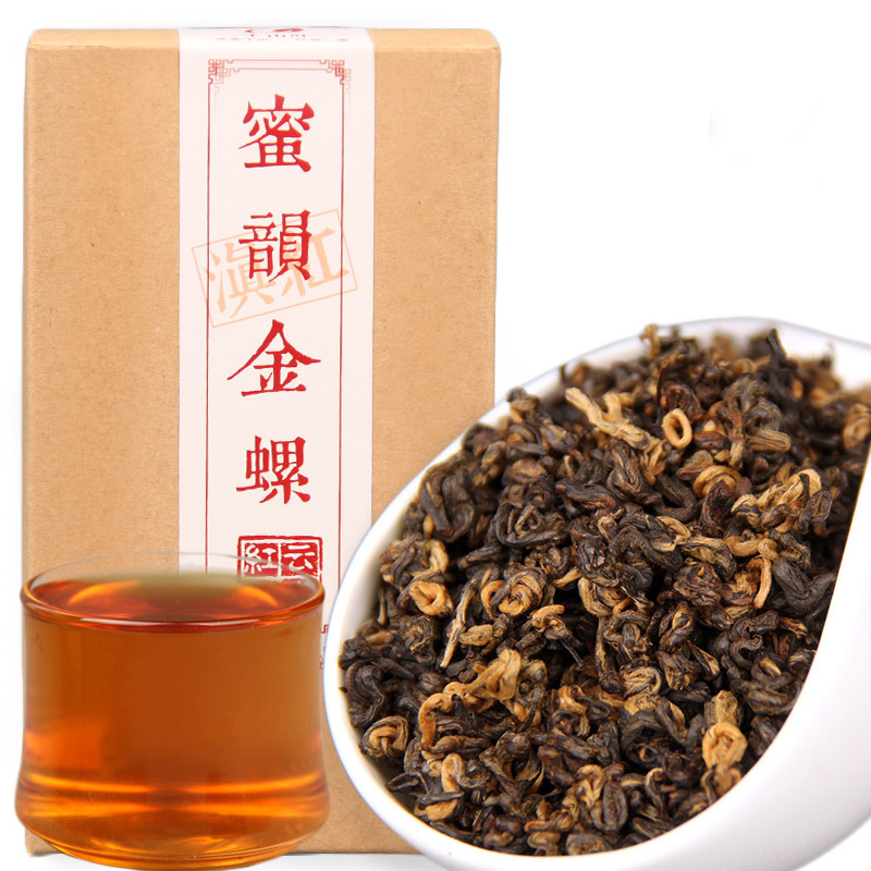2019 Chinese Tea Dianhong Honey Rhyme Gold Screw Black Tea Red Teas 1