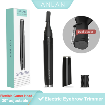 ANLAN Multifunctional Electric Eyebrow Trimmer Painless Mini Eye Brow Shaver Women Epilator Portable Razors Facial Hair Remover