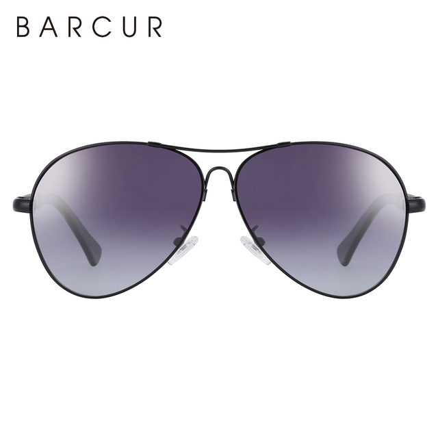 BARCUR Design Titanium Alloy Sunglasses Polarized Men's Sun Glasses Women Pilot Gradient Eyewear Mirror Shades Oculos De Sol 5