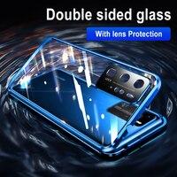 Adsorción magnética de Metal para Huawei P30, P40 Pro, Honor 30 Pro, 30S, mate 20, 30 Pro, X10, cubierta de vidrio de doble cara, protección de lente