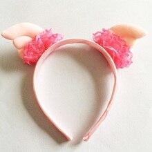 1 Pcs/lot Cute Girls Gift Headwear Children Accessories Headband Lace Angel Wing Hairband Hair Hoop For Kids Ornament Headbands