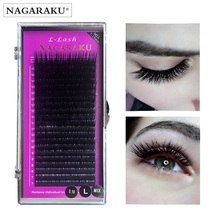 Eyelash-Extensions L Curl NAGARAKU Mink 20-Lines MIX 7-15mm Premium Soft