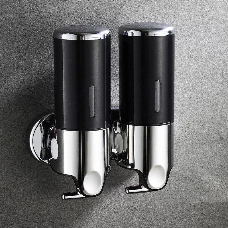 H7db452451c75480f9fdd03fbc737ace1S LIUYUE Liquid Soap Dispenser 500 ml Bathroom Wall Mounted Plastic Shampoo Liquid Dispenser Hand Wash Kitchen Accessories