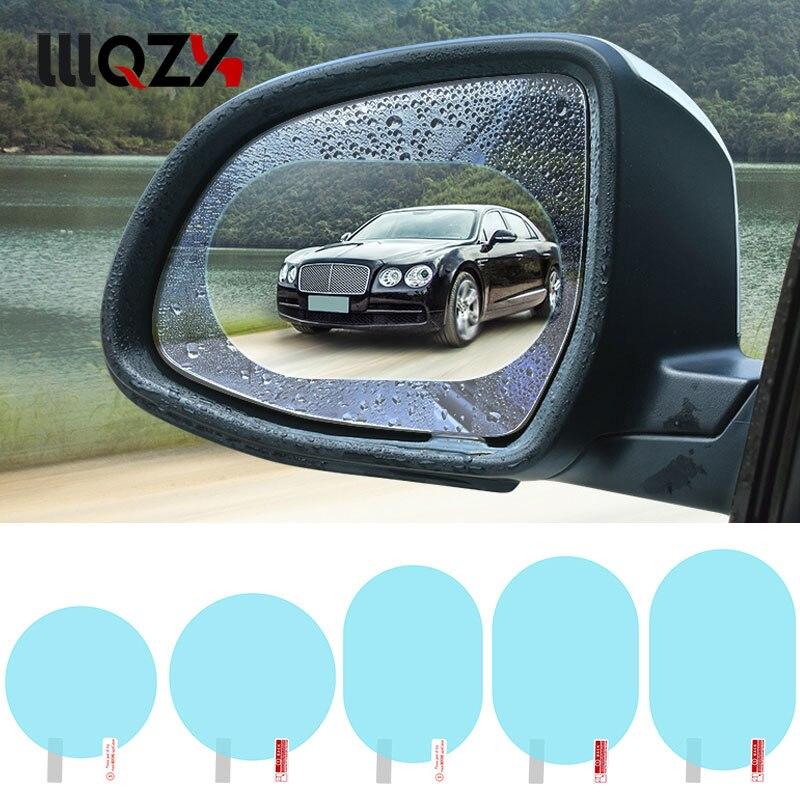 2PCS Car Mirror Clear Film Anti Dazzle Car Rearview Mirror Protective Film Waterproof Rainproof Anti Fog Car Sticker Accessories