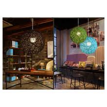 Бамбук ротанг и пеньковый шар люстра индивидуальное творчество