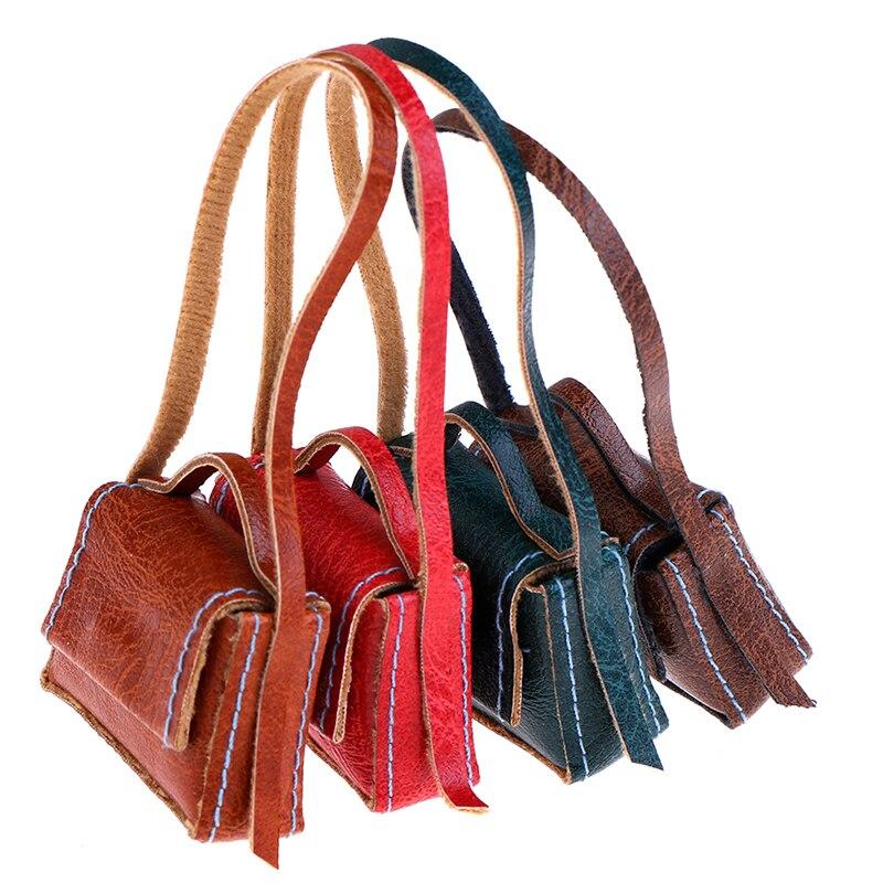 1:6 Dollhouse Miniature Leather Handbag Purse Lady's Shoulder Bag Fashion Doll's Accessory Dolls Accessories